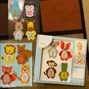 Baby first year felt belly stickers